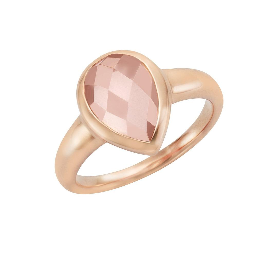 Jamelli Fingerring »925/- Sterling Silber Rosenquarz«, Ring