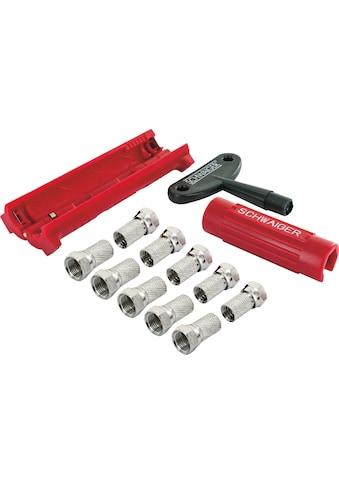 Schwaiger Montage-Werkzeug Set zum abisolieren von Koaxial-Kabeln kaufen