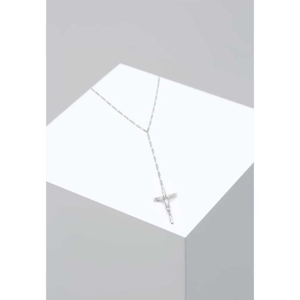 Elli Collierkettchen »by @lleennyyy Y-Kette Figarokette Kreuz 925 Silber«